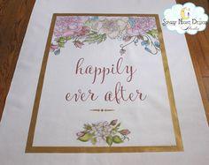 Fairytale Wedding Aisle Runner beautifully hand painted #fairytaleaislerunners, #princessweddingrunners
