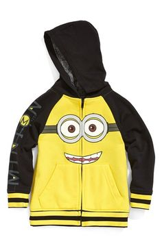 Jem 'Goggle Minion - Despicable Me™' Zip Front Hoodie (Toddler Boys & Little Boys) available at #Nordstrom