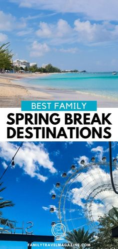 Wondering where to go for your kids' spring break vacation? Here are our updated recommendations for best spring break destinations for families, including locations in the United States, Caribbean, and Europe. Spring Break Locations, Best Spring Break Destinations, Europe Destinations, Spring Break Quotes, Spring Break Party, Europe Spring, Spring Breakers, Travel Magazines, Best Vacations
