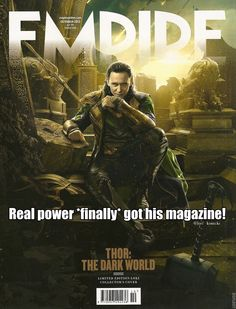 """Looks like """"real power"""" finally got his magazine. """"Let me know if real power wants a magazine or something"""" - nick fury - this is amazing"""