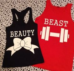 Tank top: red, black, cute, stylish, couple, matching couples ...