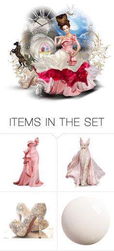 """""""No Curfew"""" by dewgirl007 ❤ liked on Polyvore featuring art, midnight, pink, doll set, contest, farytale, ball gown and cinderella"""