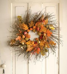How to make fall nature wreaths