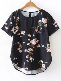 Shop Floral Print High Low Blouse online. SheIn offers Floral Print High Low Blouse & more to fit your fashionable needs.