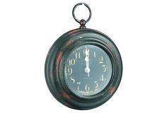 Iron Clock, Red Speckled on OneKingsLane.com