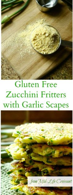 Garlic scapes are in season and looking to guest star in your next batch of zucchini fitters. An exciting twist on a classic side dish | from midlifecroissant.com