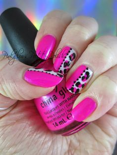 Pinkglow's Pretty Polish - Polish Party: Inspired by Another Member - Leopard Half and Half
