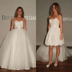 kinda cool idea...having a dress that you can detach the skirt from for the reception!