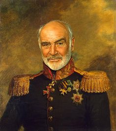 Your Favorite Stars As Russian Military Generals Sean Connery - If celebrities were 19th century military generals they would look like this