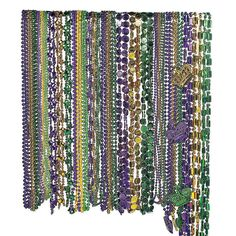 moderate use. no sign  of mardi gras. just the colors in moderation. the main colors should be purple, silver, and black