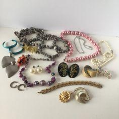 Jewelry Lot of 17 Necklaces Earrings Pendants Stars Hoops Flowers #Unbranded