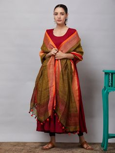 All Dupattas - Dupattas - Clothing Indian Look, Dress Indian Style, Indian Dresses, Indian Outfits, Salwar Neck Designs, Kurta Designs, Silk Anarkali Suits, Salwar Suits, Kalamkari Dresses