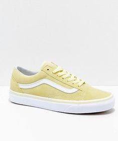 d9d6e43b16 Vans Old Skool Tender Yellow   White Suede Skate Shoes