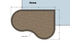 Cozy Curvy Paver Patio Design   Layouts & Material List – MyPatioDesign.com