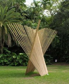 Milwaukee Museum inspired bamboo sculpture