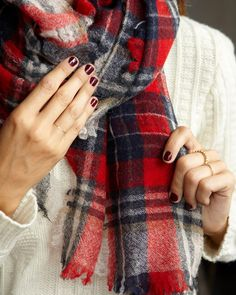 Oxblood red nails