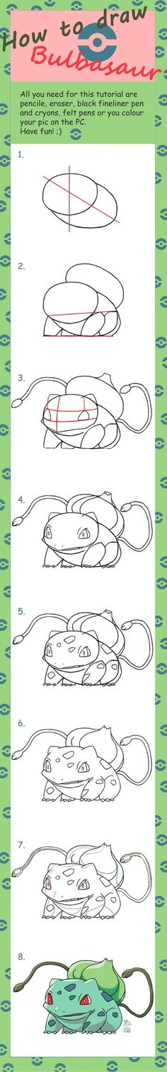 How to Draw Bulbasaur :Commission: by Dunkelkatze