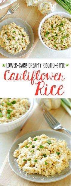 Healthy Risotto-Style Cauliflower Rice Recipe | Hungry Girl #califlowerrice