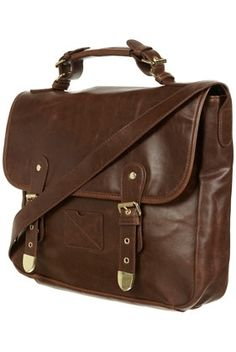 Chocolate Buckle Satchel - Bags & Purses - Accessories - Topshop USA - StyleSays