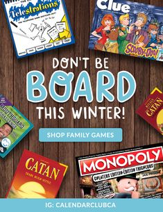 Shop family games to keep those of all ages entertained in the long, cold winter days & nights indoors! Indoor Activities For Kids, Winter Activities, Games W, Board Games, Canadian Winter, Family Games, Winter Day, Cold, Entertaining
