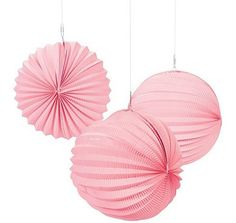 "Pink 10"" Lanterns 