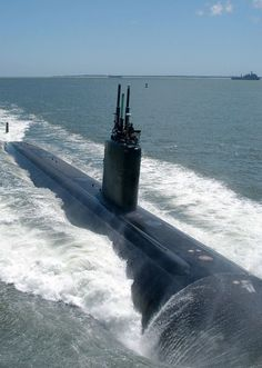 Chesapeake Bay (July 30, 2004) - The nuclear powered attack submarine, USS Albany (SSN 753) transits the Chesapeake Bay as it returns from a scheduled six-month deployment. U.S. Navy photo by Photographers Mate 2nd Class Steven J. Weber (RELEASED)