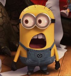 """Minion """"what?"""" Despicable Me.. one of the best scenes, to me!! :)"""
