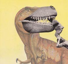 "Michael Tunk, Untitled, 2014, Analog Collage, 9"" x 9""."