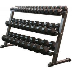 MDUSA Three Tier Hex Dumbbell Rack - Dumbbell Racks - Weightlifting Equipment