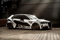 https://flic.kr/p/pyJNhJ | Camo Audi Winter sun | Wrap and design by Monsterwraps.co.uk