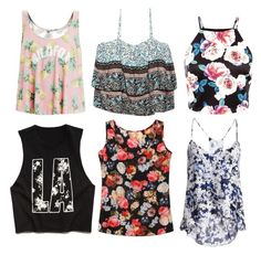 """Floral tanks"" by blissfulblonde ❤ liked on Polyvore featuring Forever 21, Wildfox, Parker, Wet Seal, women's clothing, women's fashion, women, female, woman and misses"