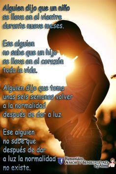 AMOR Y SENSUALIDAD: Ser Madre...!!