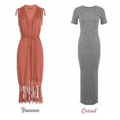 Lange Kleider: Fransen & Casual