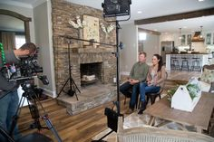 Chip and Joanna are interviewed on location for the testimonial segments for this episode of Fixer Upper.