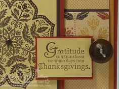days of gratitude by stampin up - Google Search