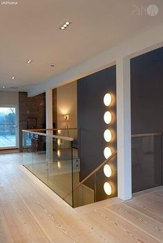 Light and colour Glass Stairs, Glass Railing, Stair Banister, Self Build Houses, Stair Lighting, Hallway Storage, Starter Home, Ceiling Design, Home Renovation