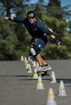 """""""jamie hart a 62-year-old sacramento skateboarder  training for the world championships of slalom skateboarding in texas goes down a small hi..."""" from sacbee.com: it's cool to see 1) an older guy still skateboarding and 2) someone still doing slalom skateboarding.  seriously, it doesn't _all_ have to be switch tré flips over 21 stairs into blunt slides.  there's other ways to have fun on a skateboard."""