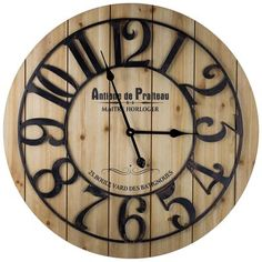 French Antoine de Praiteau Large Wall Clock