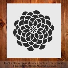 """Small Flower. Stencil for Decoration (11"""""""" x 11"""""""")"""