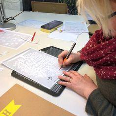 Sarah starts cutting her family tree Papercutting, Workshop, Atelier, Work Shop Garage, Cut Paper Art, Cut Outs