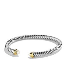 Cable+Classics+Bracelet+with+Pearls+and+Gold+by+David+Yurman+at+Neiman+Marcus.