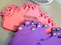 Princess Crown Birthday Invitations by TakeitPersonallybyM on Etsy, $22.00