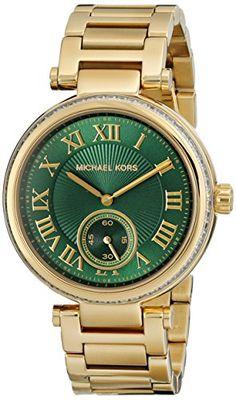 Michael Kors Skylar Emerald Green Dial Gold-tone Ladies Watch MK6065 Michael Kors http://www.amazon.com/dp/B00MAZ6QP6/ref=cm_sw_r_pi_dp_oKkqub1JKMEB3