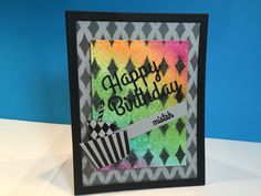 Happy Birthday Mistah water color and stencil background!