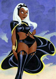 "psicomana: ""Bruce Timm Storm - Ororo Munroe [X-Men] "" Comic Book Characters, Marvel Characters, Comic Character, Comic Books Art, Book Art, Bruce Timm, Marvel Dc, Marvel Comics, Storm Marvel"