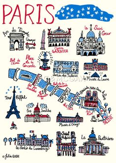 Paris Art Print by Julia Gash at King & McGaw