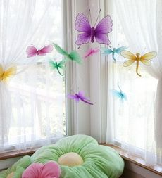 Nylon Butterflies and Dragonflies