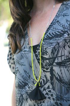 Four Flights of Fancy: DIY Tassel & Bead Chain Necklace Tutorial