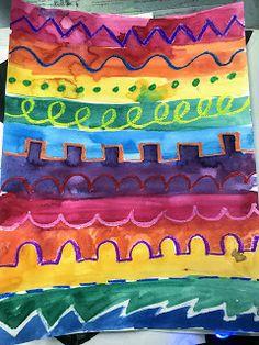 Kindergarten Line Painting Monster - Art Lesson Plans Kindergarten Art Lessons, Art Lessons For Kids, Art Lessons Elementary, Food Art For Kids, Primary Lessons, Line Art Projects, School Art Projects, Line Art Lesson, Art Lesson Plans