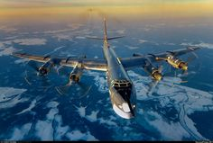 Tu-95 Bear flying over the ice fields of Arctic [1 280px 863px]
